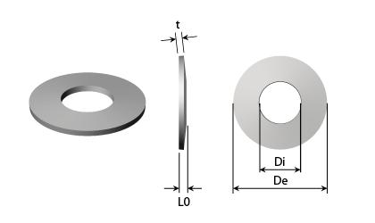 Technische tekening - Schotelveren - Zwart staal