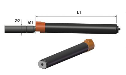 Schematische tekening - Arrêteerbuizen - Zwart staal