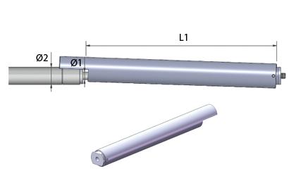 Schematische tekening - Arrêteerbuizen - Roestvrij staal
